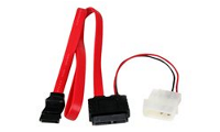 StarTech.com SATA Slimline Kabel mit Molex Stecker - S-ATA all-in-one Anschlusskabel