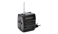 Kensington International Travel Adapter - Netzteil (BS 1363, NEMA 1-15, Eurostecker, AS/NZS 3112, 2 x USB)