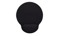 Manhattan Wrist Gel Support Pad and Mouse Mat, Black, 241 × 203 × 40 mm, non slip base, Lifetime Warranty, Card Retail Packaging - Mauspad mit ...
