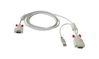 Lindy Combined KVM Cable - Video- / USB-Kabel
