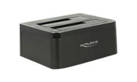 DeLOCK Dual Docking Station SATA HDD > USB 3.0 with Clone Function - Speicher-Controller mit One-Touch-Klonen
