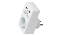 LogiLink USB Power Socket Adapter - Power adapter (USB, CEE 7/4)