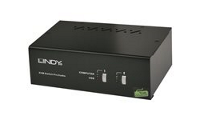 Lindy Dual Head Single Link DVI-I KVM Switch Pro with TTU - KVM / audio / USB switch